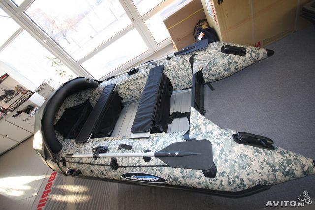 лодка gladiator d370al камуфляж